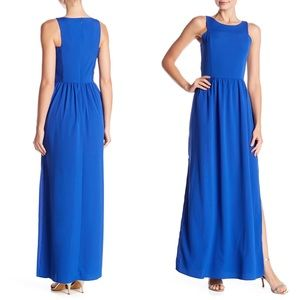 Vince Camuto   Smocked Cobalt Blur Maxi Dress NWT